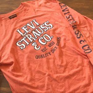 orange levi strauss and co long sleeve t shirt